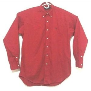Ralph Lauren Men's Medium Long Sleeve Button Down
